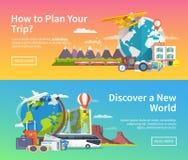 Vektorreise-Werbungsfahnen Lizenzfreie Stockfotografie