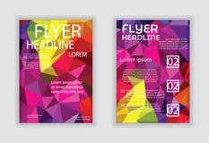 Vektorreklamblad, tidskrifträkning & affischmallvektor Arkivbilder