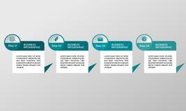 Vektorrektangel som är infographic med symboler Affären diagrams, presentationer och diagram Bakgrund Arkivfoton