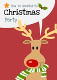 Vektorrencharakter-Grußkarte der frohen Weihnachten Stockfotografie