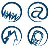 Vektorrengöringsduksymboler för information om kontakt Arkivfoto