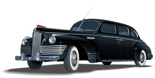VektorRetro- Limousine Lizenzfreie Stockfotos