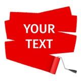 Vektorrollenbürste für Text Lizenzfreie Stockfotografie