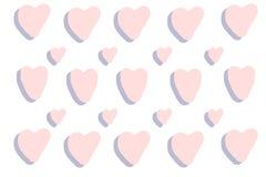 Vektorrosafarbener Innerhintergrund Violette Herzbeschaffenheit reizende Illustration Romantische Karte Handdrawn Herz für Heirat lizenzfreie abbildung