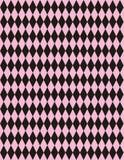 Vektorrosafarbener schwarzer Harlekin-Hintergrund Stockbilder