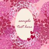 Vektorrosafarbenes Feld für Valentinsgrußtag stock abbildung