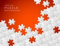 Vektorrote Hintergrund-Puzzlespielstücke Lizenzfreie Stockfotos
