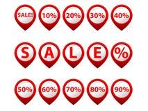 Vektorrote Verkaufstasten Lizenzfreies Stockfoto