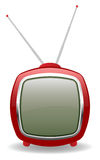 Vektorroter Retro- Fernsehapparat, Abbildung eps8 Stock Abbildung