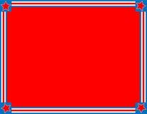 Vektorroter weißer blauer Stern-gestreifter Hintergrund stockbild