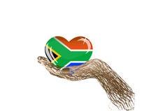 Vektorsüdafrica_flag Stockfoto