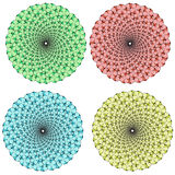 Vektorsamling av färgmonokrommandalas Royaltyfria Foton