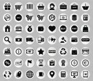 Vektorsamling av färgrika plana affärs- och finanssymboler stock illustrationer