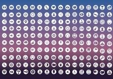 Vektorsamling av färgrika plana affärs- och finanssymboler Royaltyfri Bild
