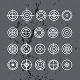 Vektorsamling av mållägenhetsymboler Arkivfoton