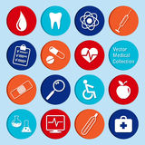 Vektorsamling av medicinska symboler Arkivfoton