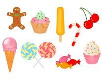 Vektorsamling av sötsaker Royaltyfria Bilder