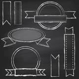 Vektorsamling av svart tavlastilbaner stock illustrationer