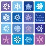 Vektorsamling: symboler för jul och för nytt år snöflinga vektor illustrationer