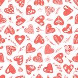 Vektorsamlingar av utdragna hjärtor för hand som isoleras på genomskinlig bakgrund Clipart för förälskelsevalentindag hjärta isol royaltyfri illustrationer