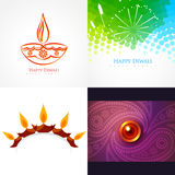Vektorsammlung der diwali Hintergrundillustration stock abbildung