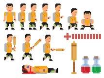 Vektorsammlung der Pixelkunst-Artperson Lizenzfreie Stockfotografie