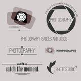 Vektorsammlung Fotografielogoschablonen Stockfotografie