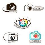 Vektorsammlung Fotografielogoschablonen Lizenzfreie Stockbilder