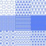 Vektorsammlung griechische traditionelle nahtlose Muster Lizenzfreies Stockfoto