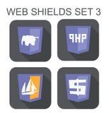 Vektorsammlung PHP-Web-Entwicklungs-Schildzeichen: PHP-eleph Lizenzfreie Stockbilder