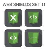 Vektorsammlung xml Web-Entwicklungs-Schildzeichen: xml, Tag Stockbilder