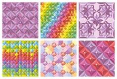 Vektorsatz abstrakte nahtlose Muster und Hintergründe Lizenzfreie Stockbilder
