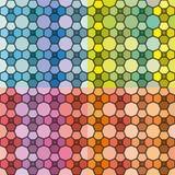 Vektorsatz abstrakte nahtlose Muster und Hintergründe Lizenzfreies Stockbild