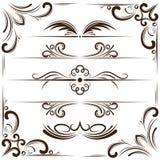 Vektorsatz Bookplates und Ecken für Design Stockfoto