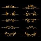Vektorsatz dekorative Elemente der Weinlese Stockbilder
