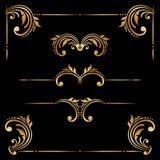 Vektorsatz dekorative Elemente der Weinlese Lizenzfreie Stockfotografie