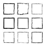 Vektorsatz des Quadrats gestaltet Tinte 2 Lizenzfreie Stockfotos