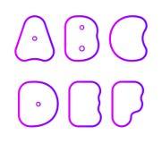 Vektorsatz des super mutigen runden ernstlichgusses vektor abbildung
