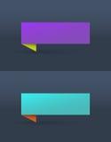 Vektorsatz einfache helle Fahnen Lizenzfreie Stockfotografie