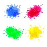 Vektorsatz farbige Flecken auf dem weißen Hintergrund lizenzfreie abbildung