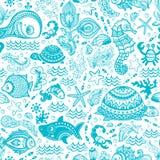 Vektorsatz Fische und Oberteile stock abbildung