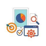 Vektorsatz flache und bunte Konzepte an Lizenzfreie Stockfotos