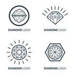 Vektorsatz Gestaltungselemente des schwarzen Diamanten Lizenzfreie Stockfotografie