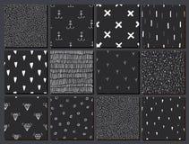 Vektorsatz Hand gezeichnete nahtlose abstrakte Muster vektor abbildung