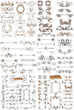 Vektorsatz kalligraphische Elemente für Entwurf Stockfoto