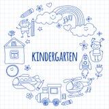Vektorsatz Kindergartenbilder Lizenzfreie Stockfotos