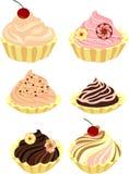 Vektorsatz Kuchen und kleine Kuchen Lizenzfreie Stockfotos
