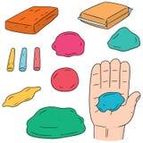 Vektorsatz Lehm für Kind stock abbildung
