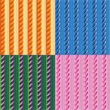 Vektorsatz Muster mit Streifen und Bogen Lizenzfreie Stockfotografie