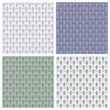 Vektorsatz nahtlose Lavendelmuster Lizenzfreie Stockfotografie